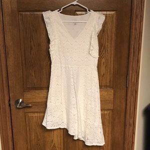Ivory high low lace dress